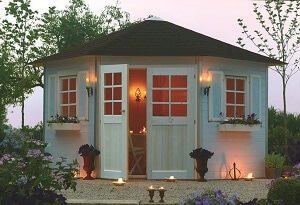 Gartenhaus mediteran